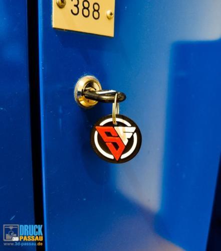 mehrfarbige Schlüsselanhänger